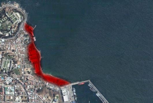 Foto 2: Sector playa San Mateo: Es posible habilitar infraestructura portuaria que permita alzar en 4,8 millones de toneladas la capacidad de carga.